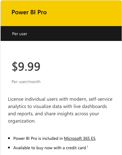 Power BI for nonprofits pricing