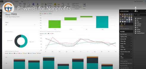 Power BI for nonprofits reports